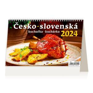 Stolový kalendár Slovensko špeciál Česko-slovenská kuchárka 2022