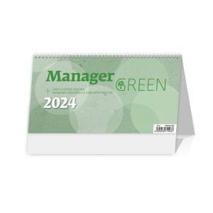 Stolový kalendár Manager green 2021