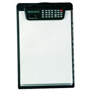 Písacia podložka s kalkulačkou čierna