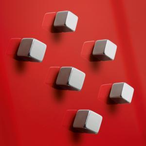 Magnety Sigel na sklenené tabule , dizajn kocka 6ks