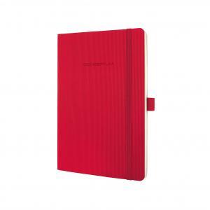 Zápisník CONCEPTUM linajkový červený, mäkká väzba 135x210mm
