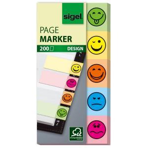 Záložky samolepiace značkovacie SMILE, 20x50, 5x40 lístkov