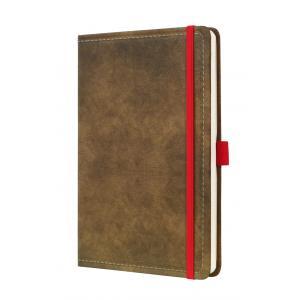 Zápisník CONCEPTUM Vintage linajkový hnedý 135x203mm