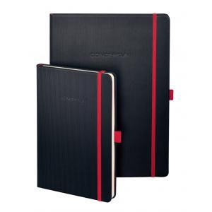 Zápisník CONCEPTUM Red Edition A5, linajkový čierno-červený