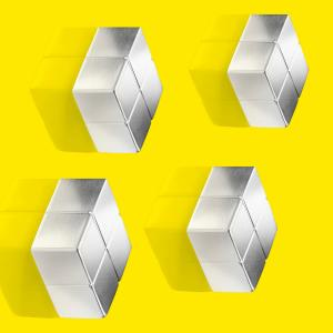 Magnety Sigel na sklenené tabule, kocka 4 ks extra silné