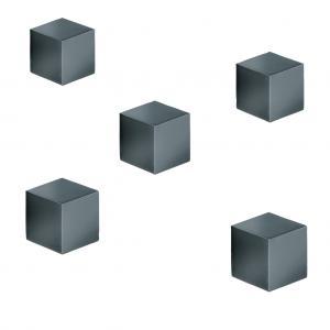 Magnety Sigel na sklenené tabule , kocka titánová sivá 5ks
