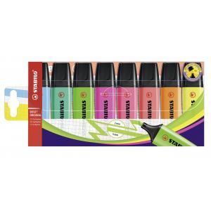 Sada zvýrazňovačov STABILO BOSS ORIGINAL  8 ks balenie   s 8 rôznymi farbami