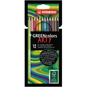 Farbičky STABILO GREENcolors 12ks ARTY