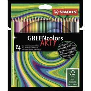 Farbičky STABILO GREENcolors 24ks ARTY