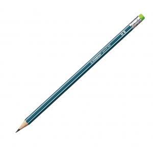 Ceruzka STABILO 160 HB s gumou petrolejová 12ks