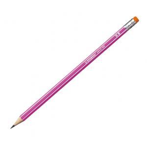 Ceruzka STABILO 160 HB s gumou ružová 12ks