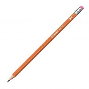 Ceruzka STABILO 160 HB s gumou oranžová 12ks