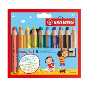 Farbičky STABILO woody 3 in1 10ks
