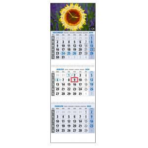 Plánovací kalendár Klasik 3-mesačný modrý, 295x870 mm 2020