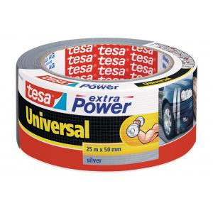 Textilná páska TESA silne lepiaca strieborná 50mmx25m