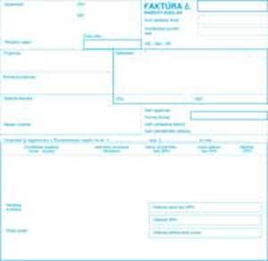 Faktúra daňový doklad 21x20cm 100 listov samoprepis