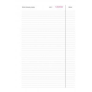 Stavebný denník,číslovaný A4 158 hárkov