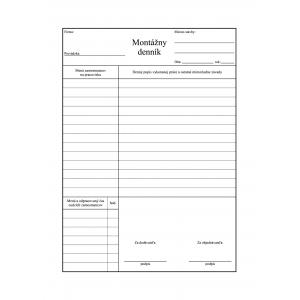 Montážny denník A4 100l samop