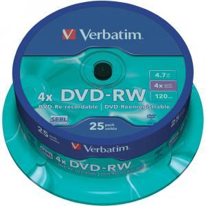 Verbatim DVD-RW 4x 4,7GB cake 25 ks
