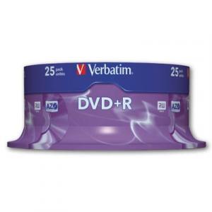 Verbatim DVD+R 16x cake25