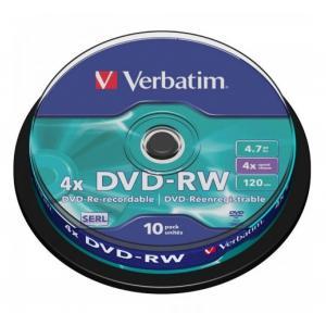 Verbatim DVD-RW 4x 4,7GB cake 10 ks