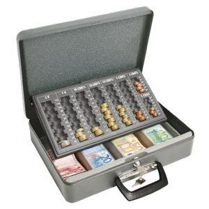 Euro-pokladnička Universa eco sivá