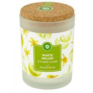 Vonná sviečka Essential Oils - Biele melóny a ylang ylang 185g