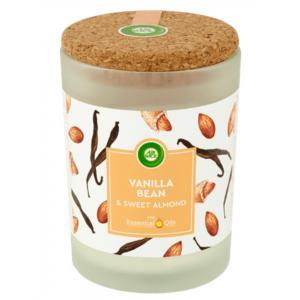 Vonná sviečka Essential Oils - Vanilka & sladké mandle 185g