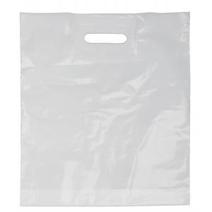 Igelitová taška biela s výsekom PE37x44 cm