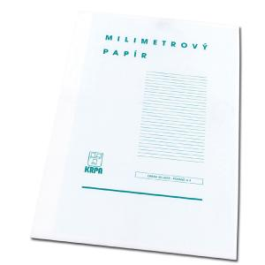 Milimetrový papier A4, bal. 50 ks