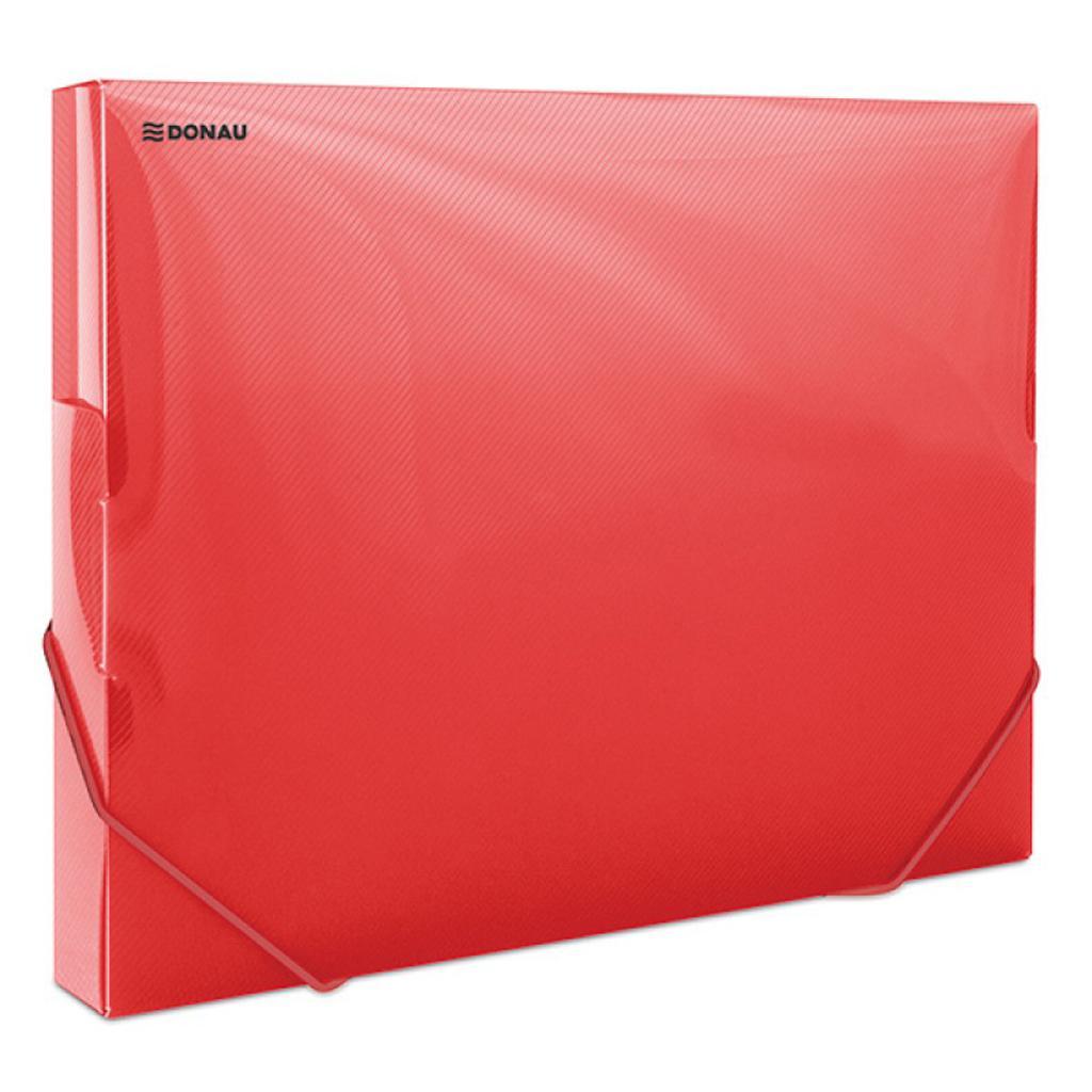 45a87c968efb7 Plastový box s gumičkou DONAU priehľadný červený