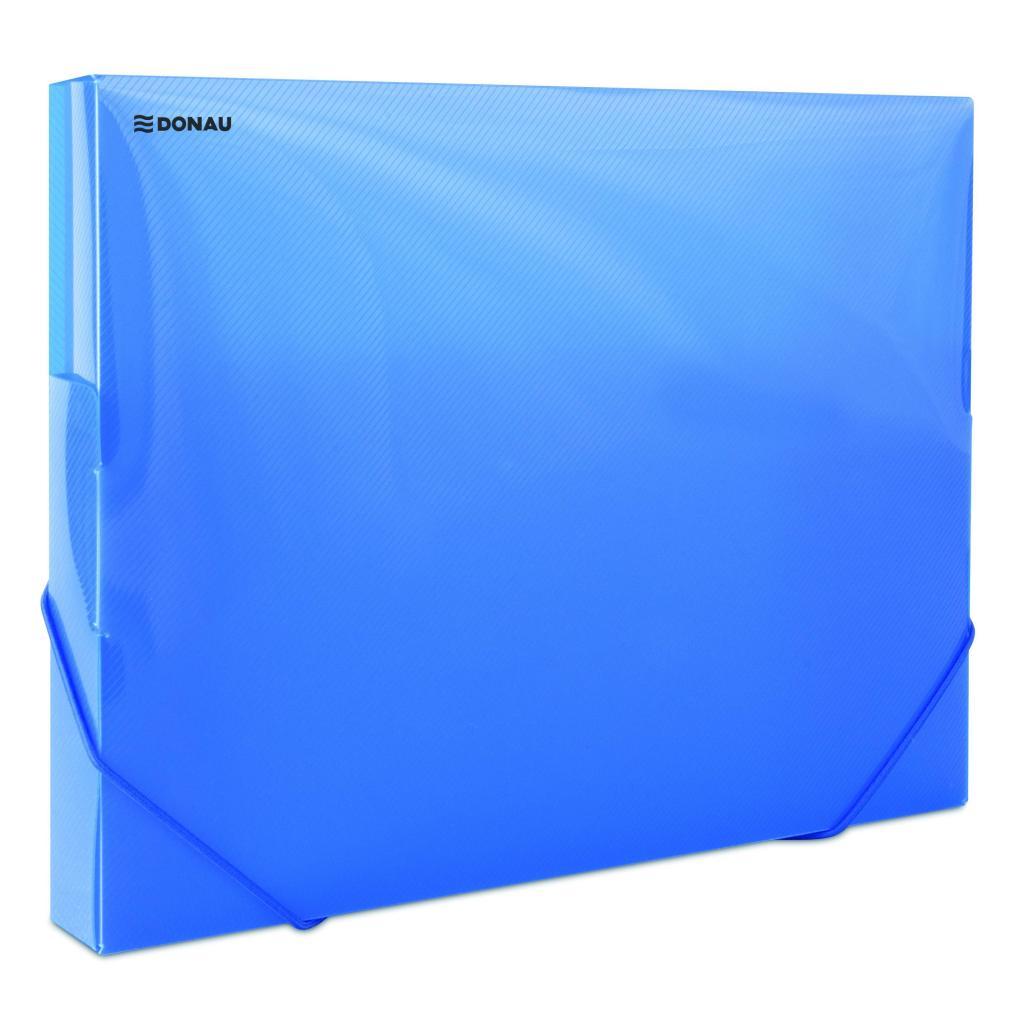 49f1ae2968409 Plastový box s gumičkou DONAU priehľadný modrý