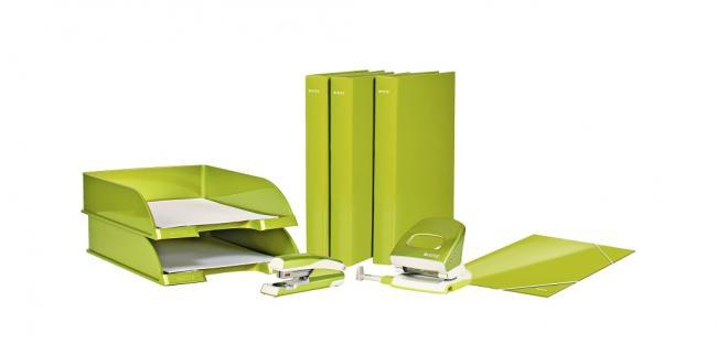 Kartónový obal lesklý s gumičkou Leitz WOW zelený 295fa59875b